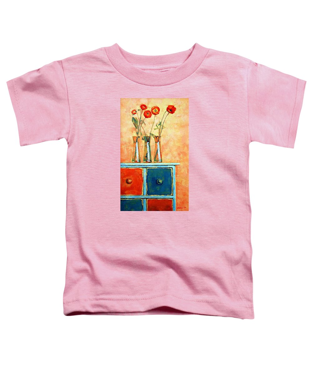 Poppies Toddler T-Shirt featuring the painting Still Life With Poppies by Iliyan Bozhanov