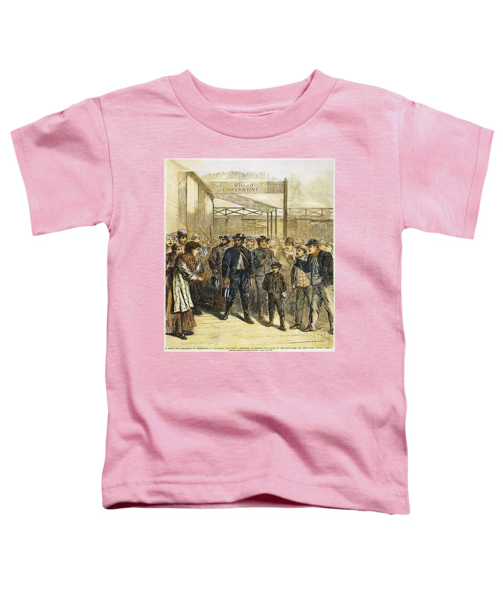 1871 Toddler T-Shirt featuring the photograph Striking Coal Miners, 1871 by Granger