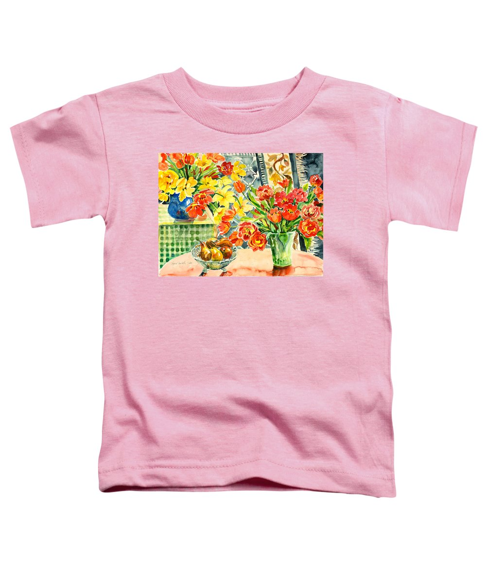 Watercolor Toddler T-Shirt featuring the painting Studio Still Life by Alexandra Maria Ethlyn Cheshire