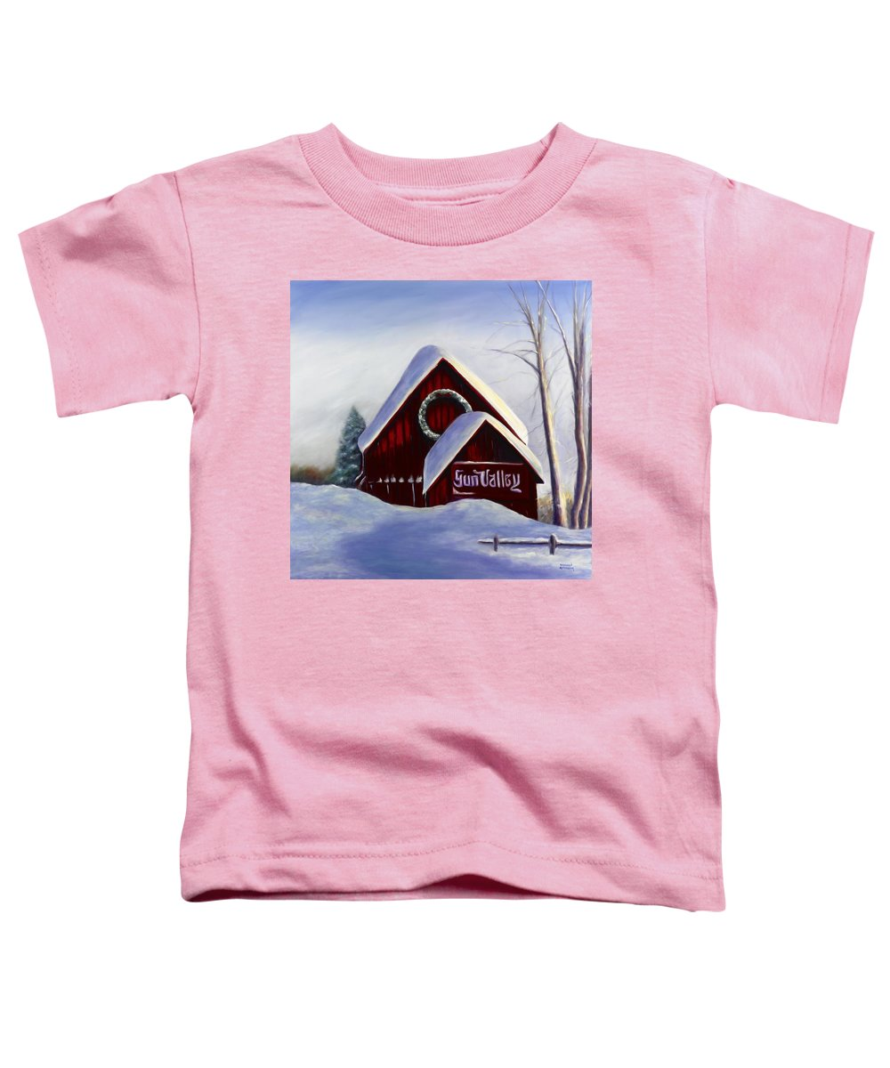 Landscape Toddler T-Shirt featuring the painting Sun Valley 3 by Shannon Grissom