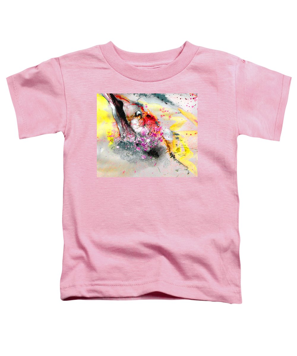 Pastel Painting Toddler T-Shirt featuring the painting Sunday By The Tree by Miki De Goodaboom