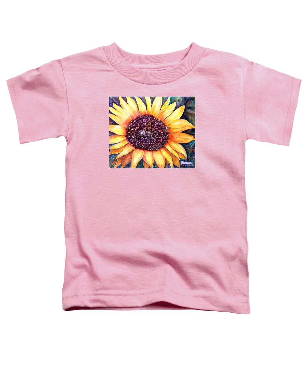 Sunflower Toddler T-Shirt featuring the painting Sunflower Of Georgia by Norma Boeckler