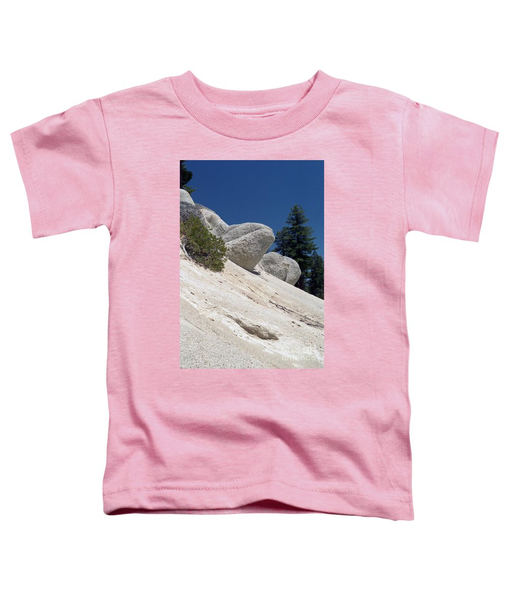 Abstract Toddler T-Shirt featuring the photograph Tahoe Rocks by Richard Rizzo