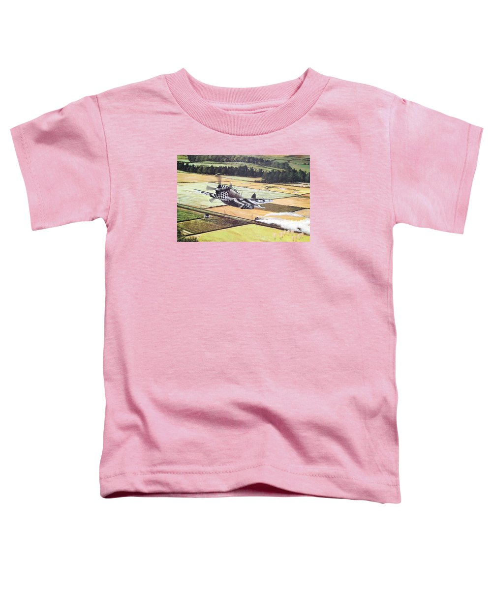 Military Toddler T-Shirt featuring the painting Target Of Opportunity by Marc Stewart