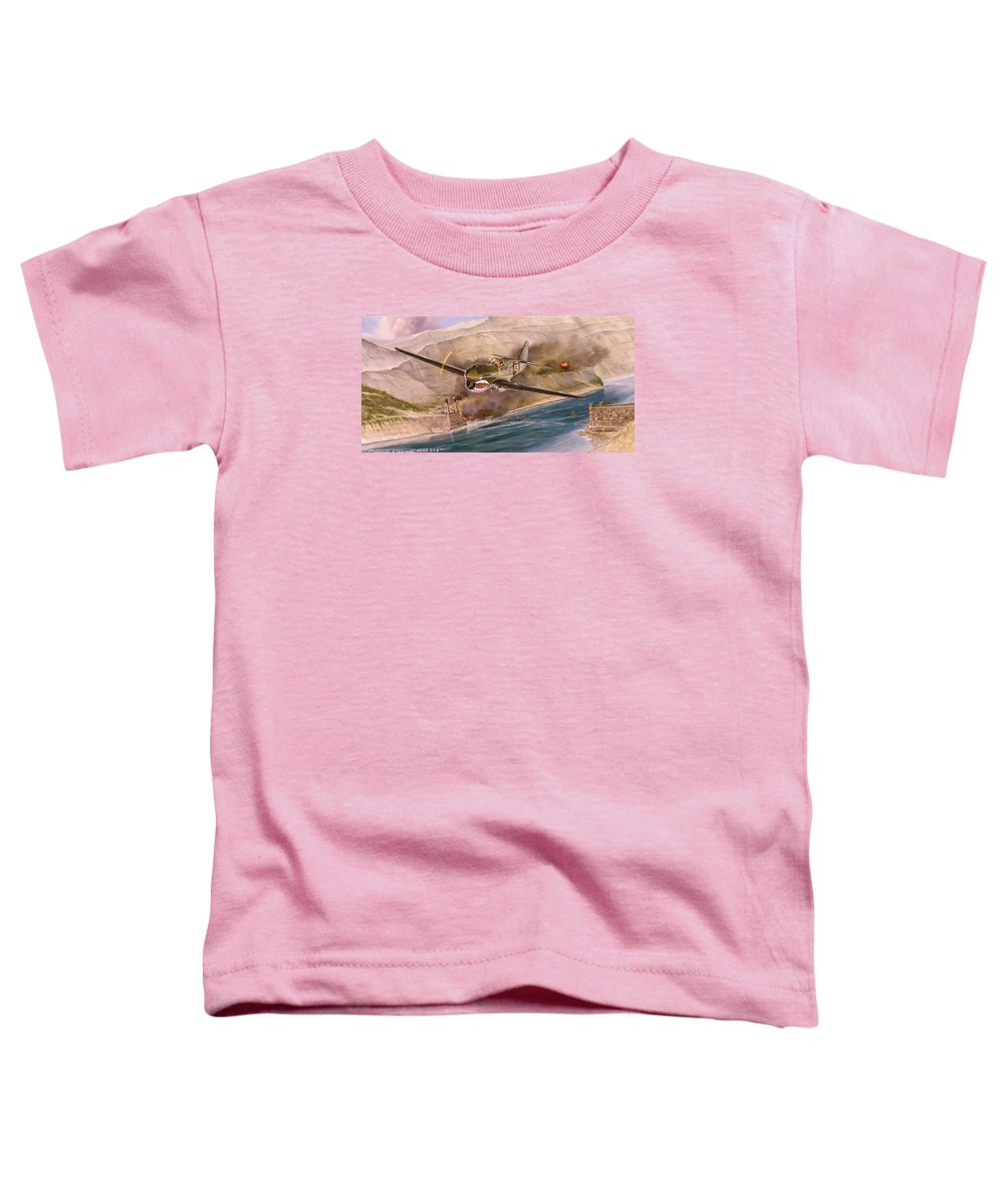 Painting Toddler T-Shirt featuring the painting Tex Hill Over The Salween Gorge by Marc Stewart