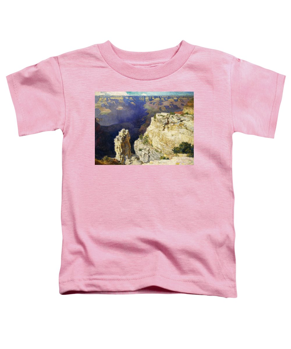 The Grand Canyon Toddler T-Shirt featuring the painting The Grand Canyon by Edward Henry Potthast