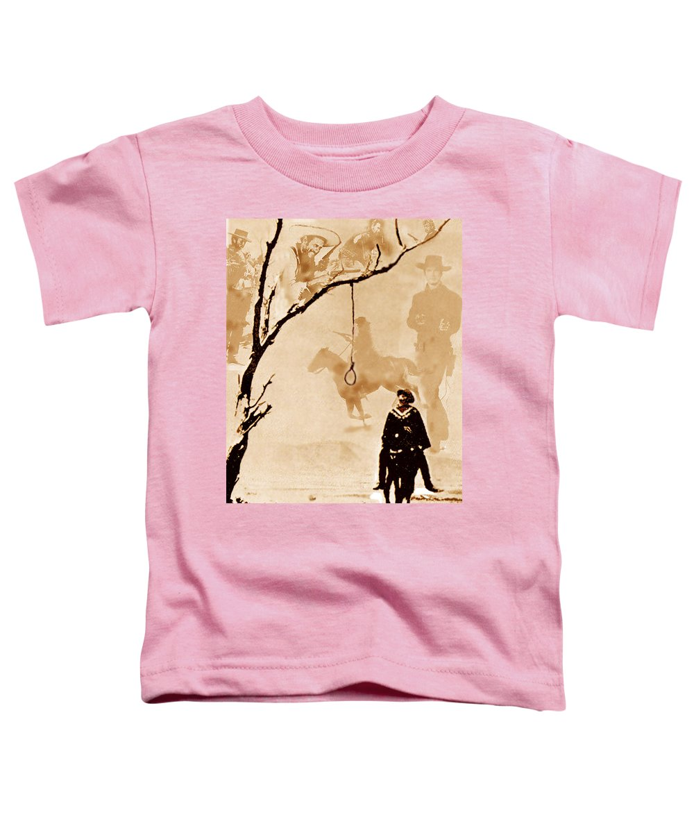 Clint Eastwood Toddler T-Shirt featuring the digital art The Hangman's Tree by Seth Weaver