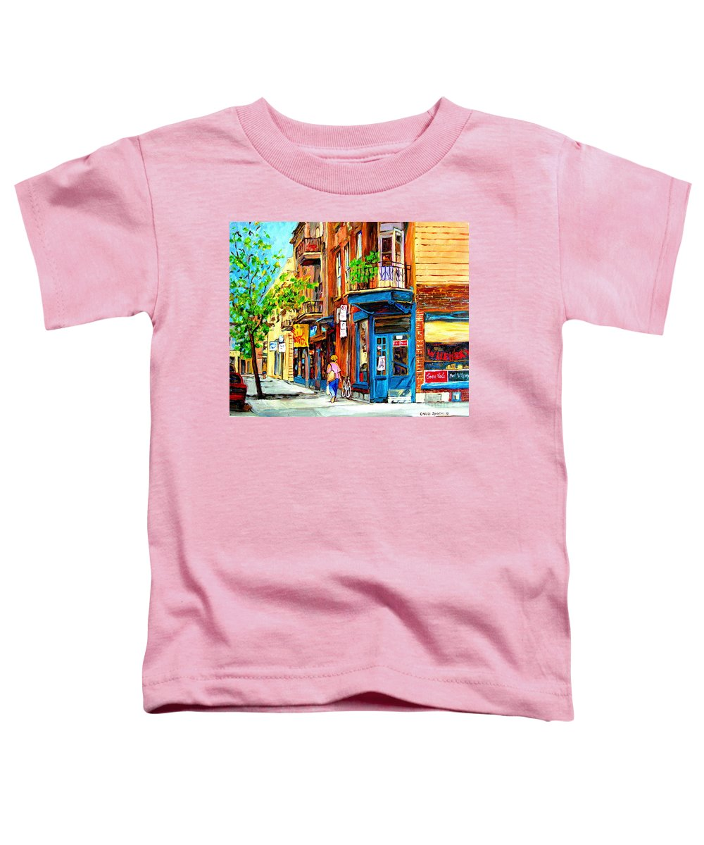 Wilenskys Toddler T-Shirt featuring the painting The Lady In Pink by Carole Spandau