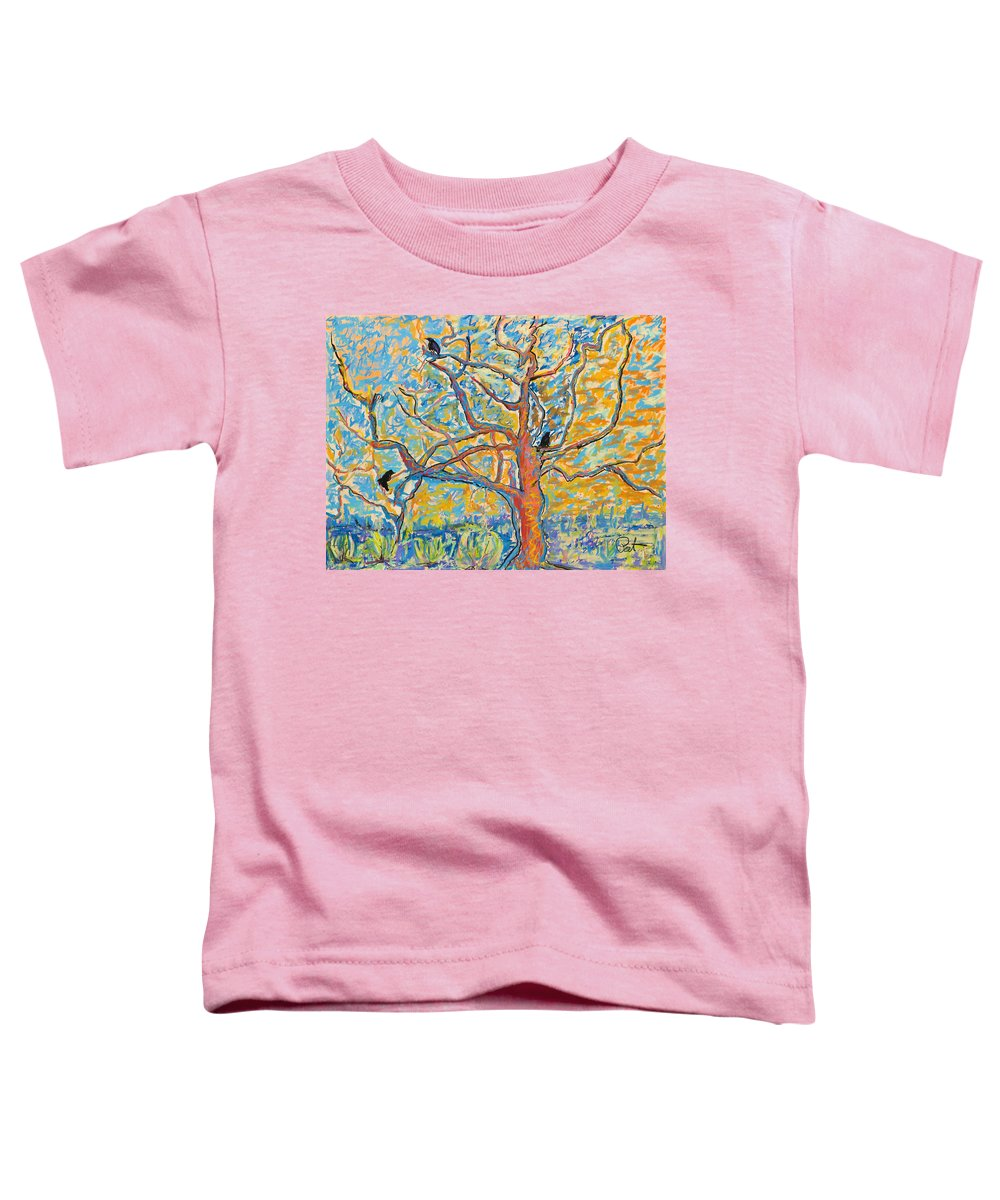 Abstract Painting Toddler T-Shirt featuring the mixed media The Wind Dancers by Pat Saunders-White