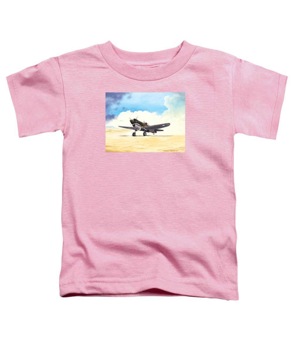 Aviation Toddler T-Shirt featuring the painting Tiger Scramble by Marc Stewart