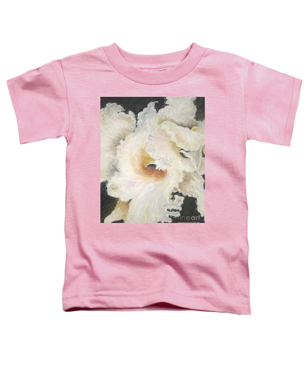 Flower Toddler T-Shirt featuring the painting Tropical Flowers by Nadine Rippelmeyer