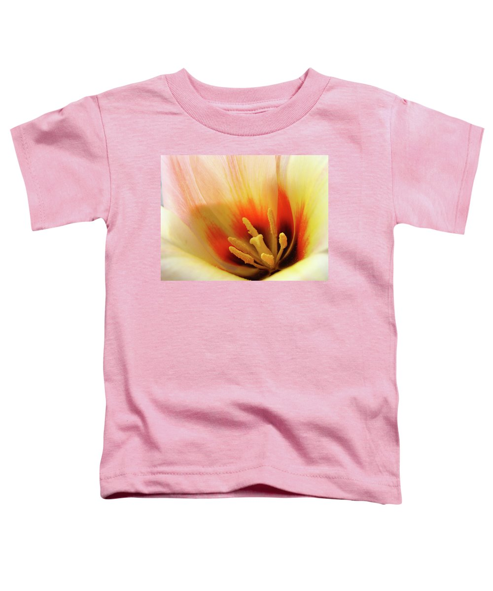 �tulips Artwork� Toddler T-Shirt featuring the photograph Tulip Flower Artwork 31 Tulips Flowers Macro Spring Floral Art Prints by Baslee Troutman