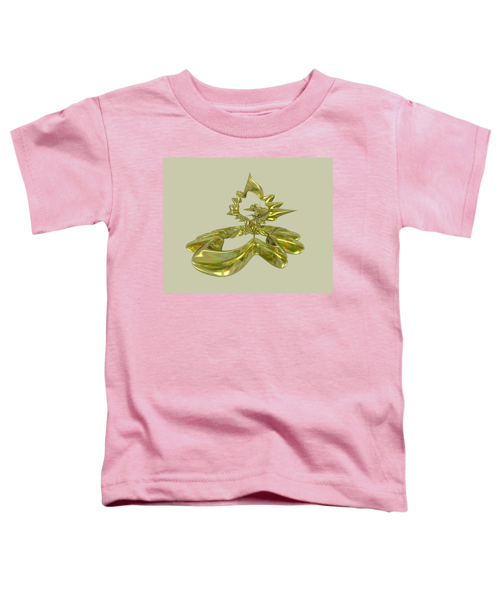 Fractal Toddler T-Shirt featuring the digital art UFO by Frederic Durville