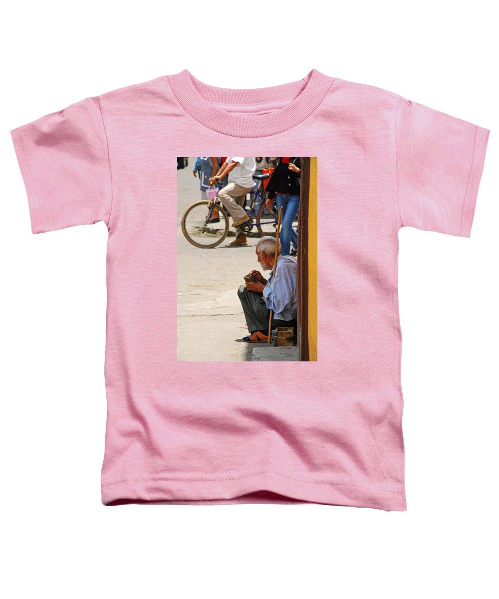 Beggar Toddler T-Shirt featuring the photograph Un Peso Por Favor by Skip Hunt