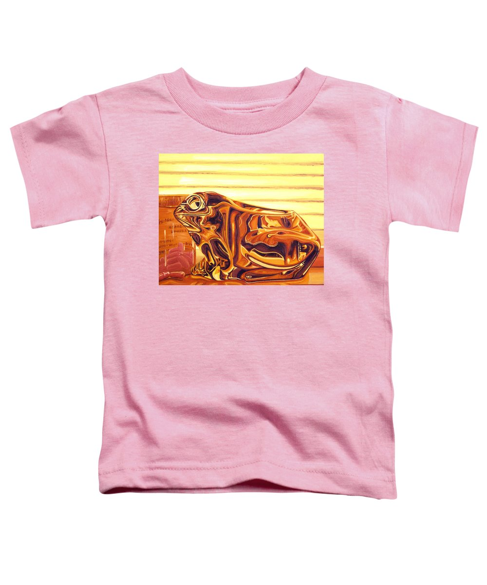 Frog Toddler T-Shirt featuring the painting Untitled by Judy Henninger