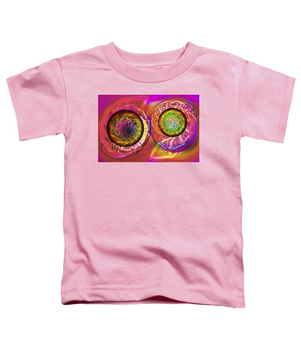 Crazy Toddler T-Shirt featuring the digital art Vision 42 by Jacques Raffin