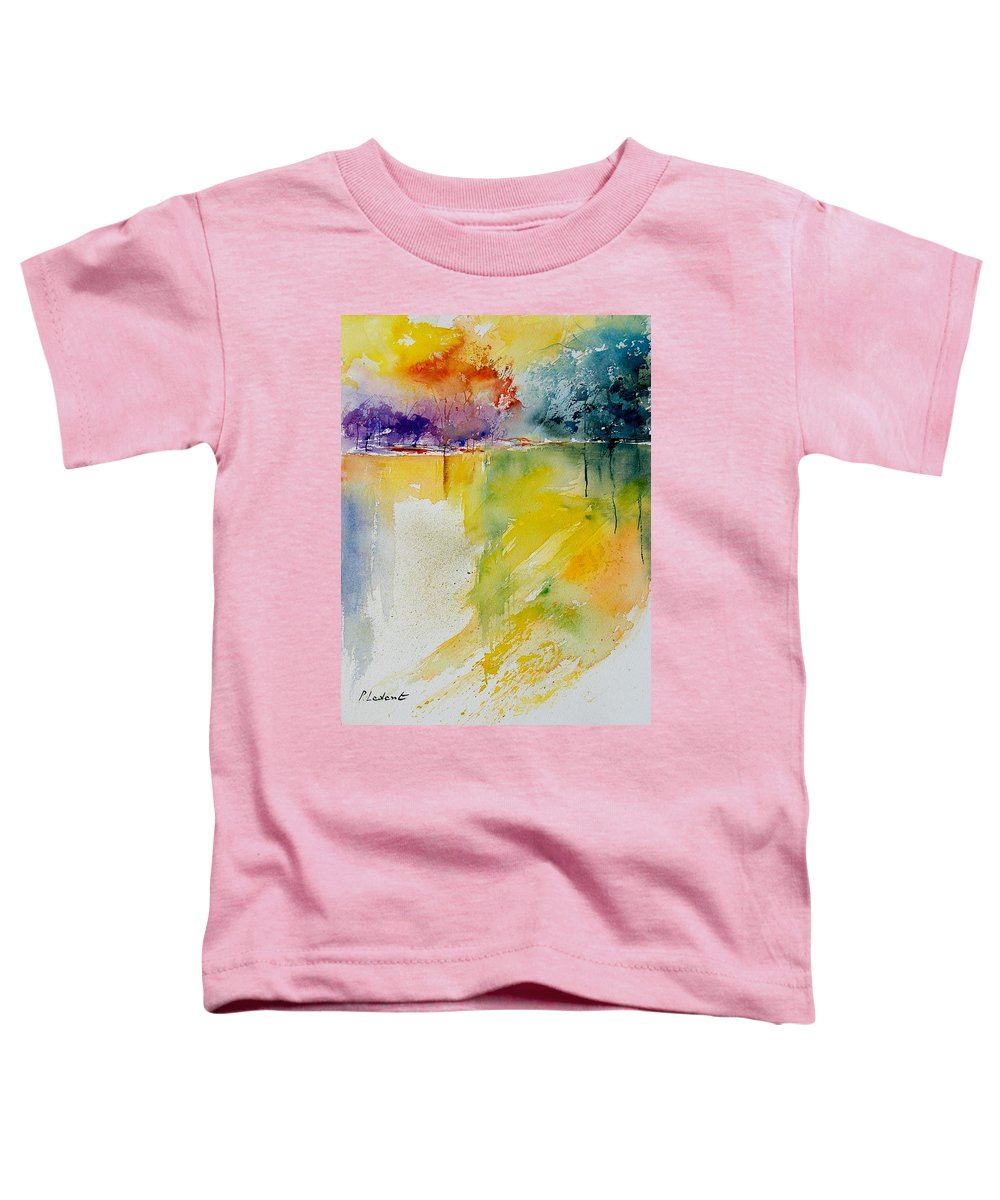 Pond Toddler T-Shirt featuring the painting Watercolor 800142 by Pol Ledent