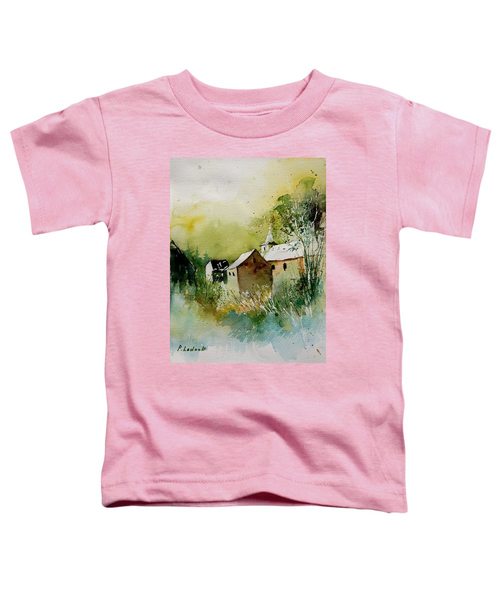 Landscape Toddler T-Shirt featuring the painting Watercolor Sosoye by Pol Ledent