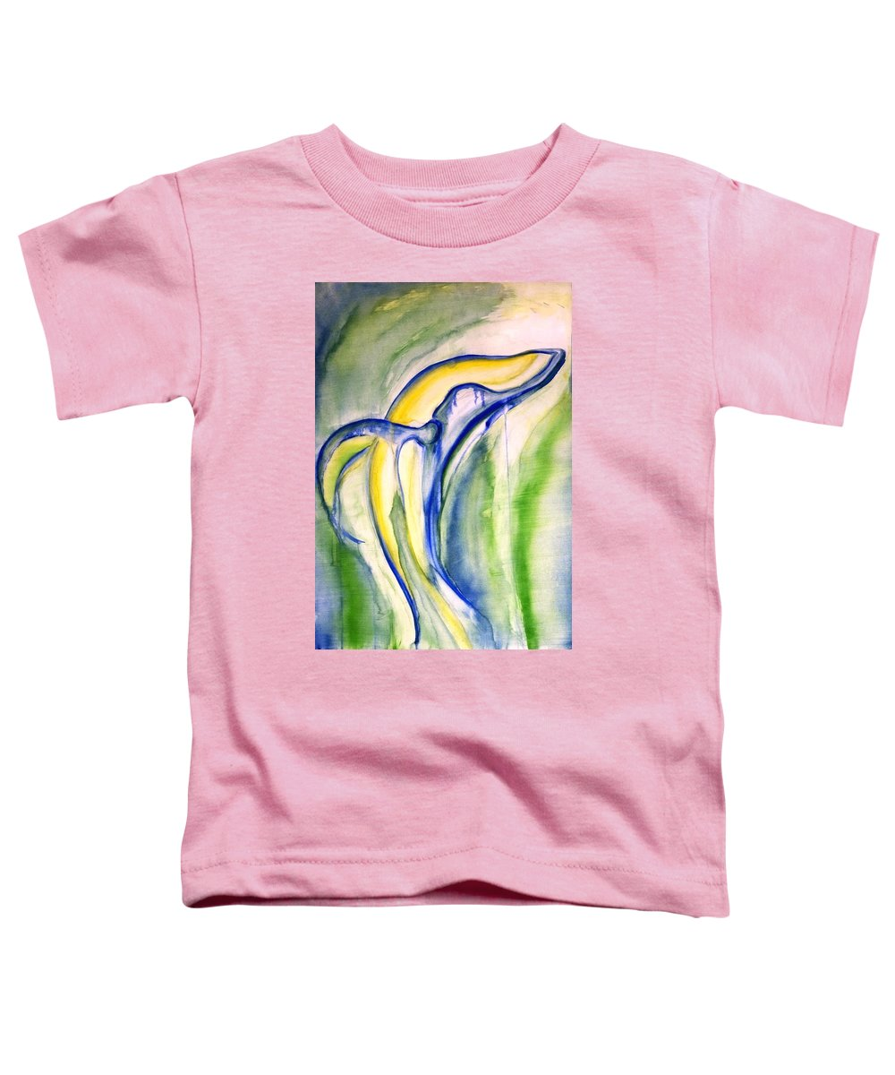 Watercolor Toddler T-Shirt featuring the painting Whale by Sheridan Furrer