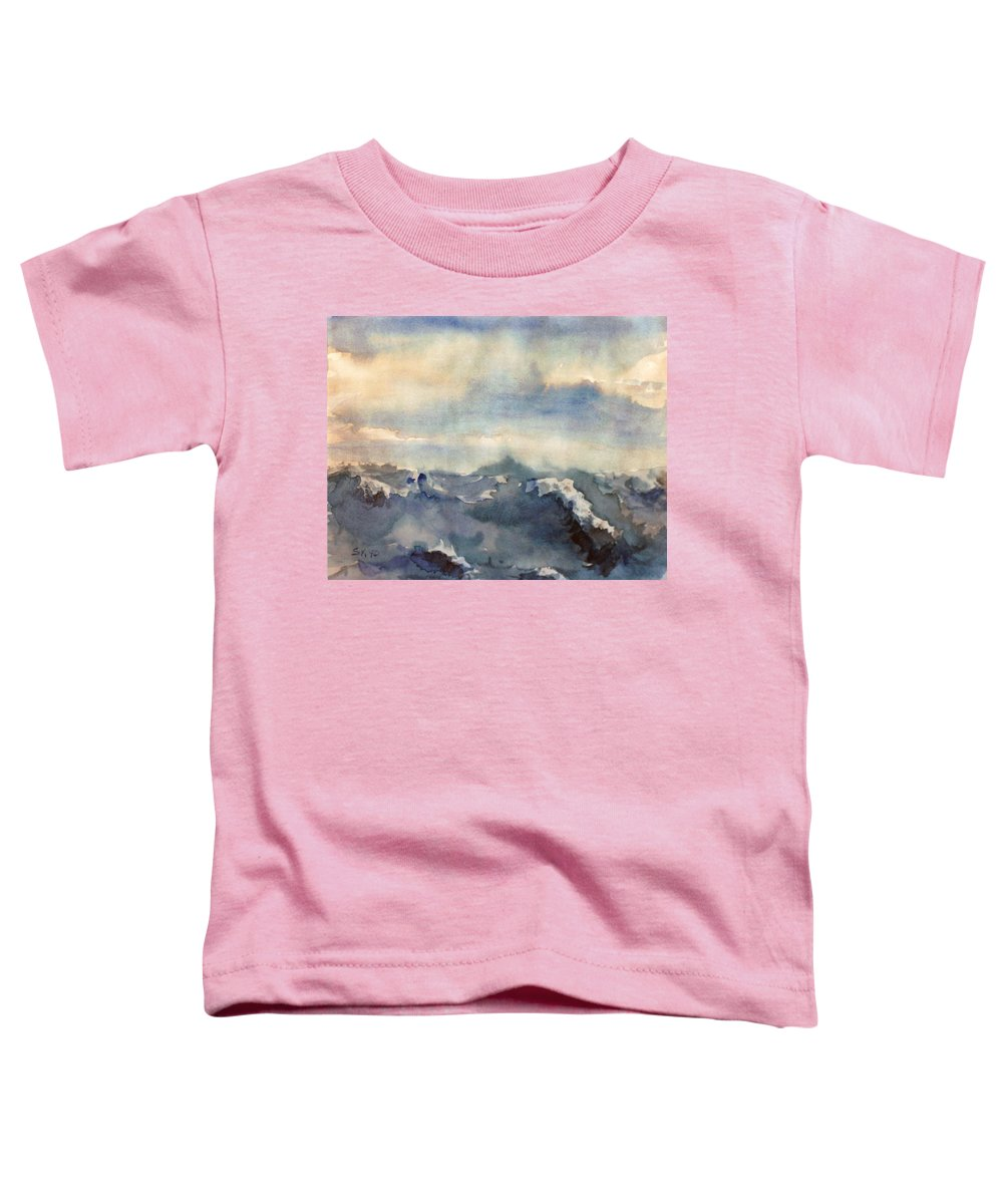 Seascape Toddler T-Shirt featuring the painting Where Sky Meets Ocean by Steve Karol