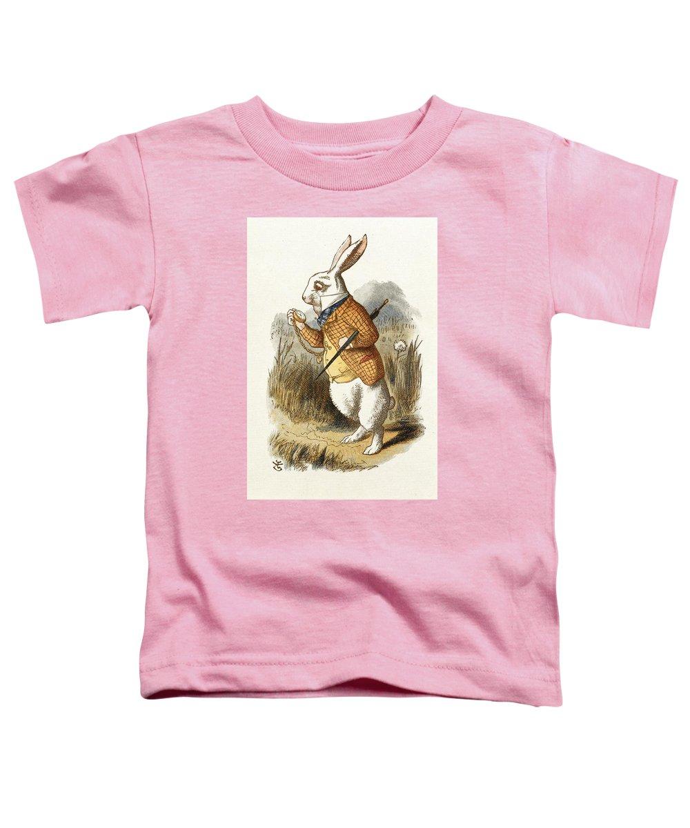 "Alice Wonderland Baby T-shirt /""The White Rabbit/"" John Tenniel Design Tee Clothes"