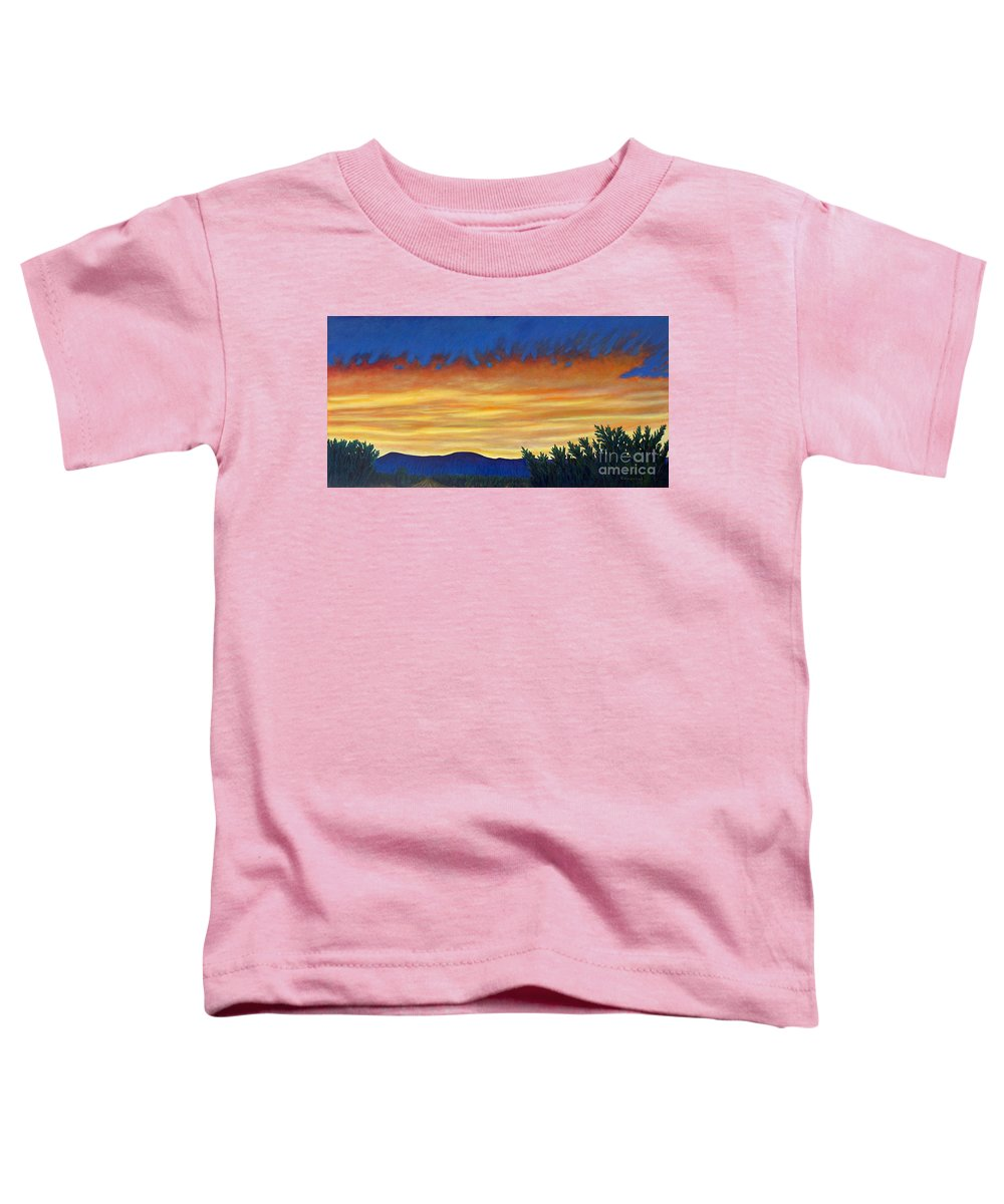 Sunset Toddler T-Shirt featuring the painting Winter Sunset In El Dorado by Brian Commerford
