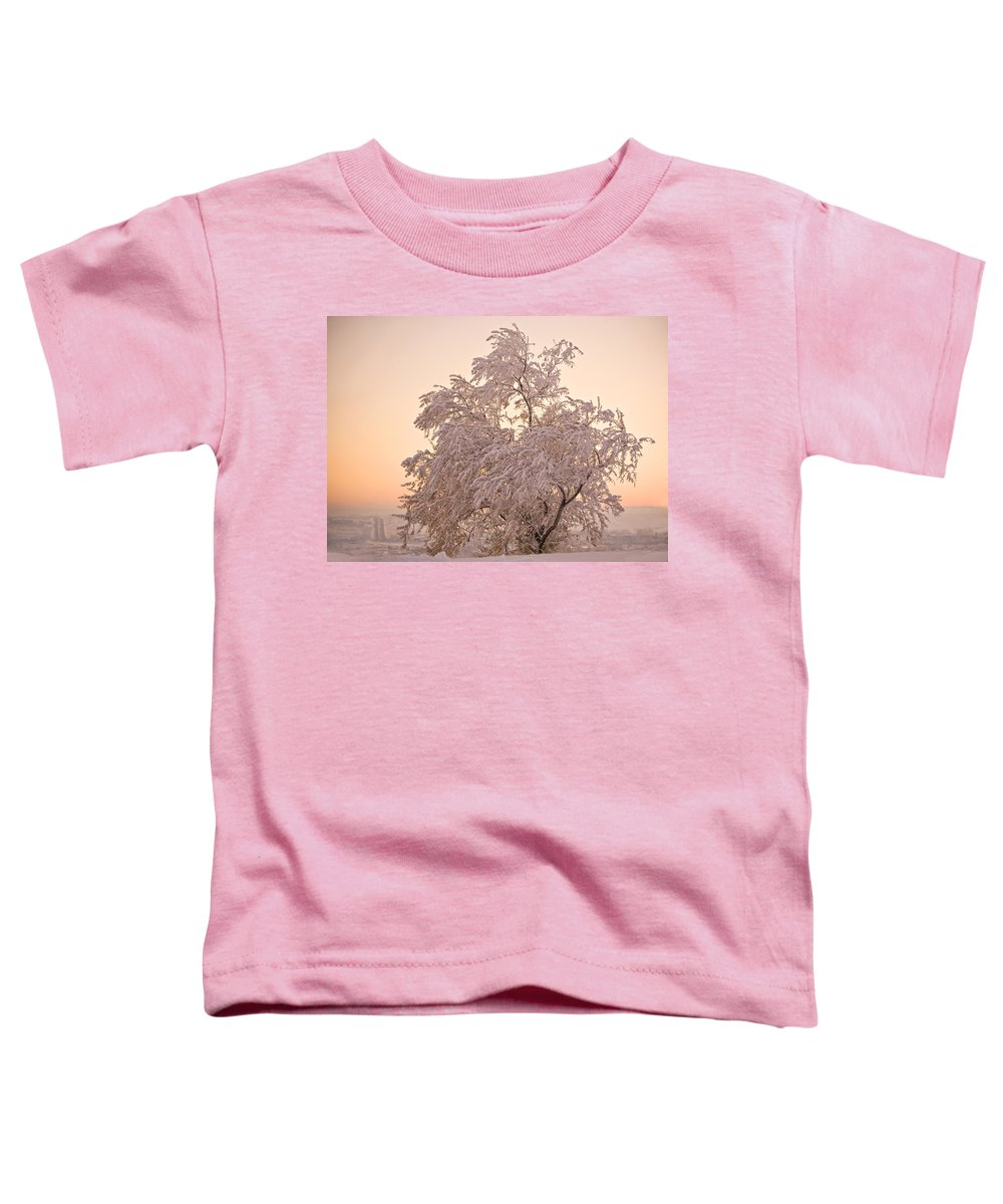 Winter Toddler T-Shirt featuring the photograph Winter Sunset by Marilyn Hunt