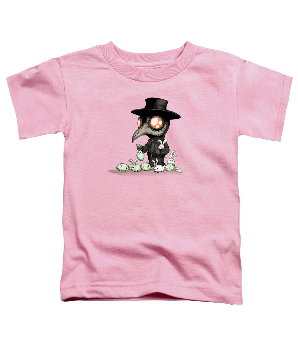 Plague Toddler T-Shirt featuring the drawing Plague Doctor Experiments by Ludwig Van Bacon