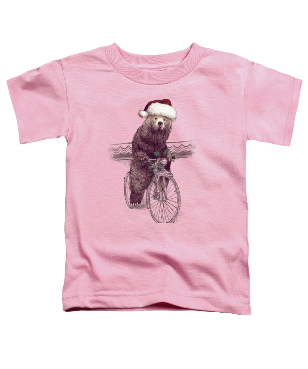 Holidays Toddler T-Shirt featuring the drawing A Barnabus Christmas by Eric Fan