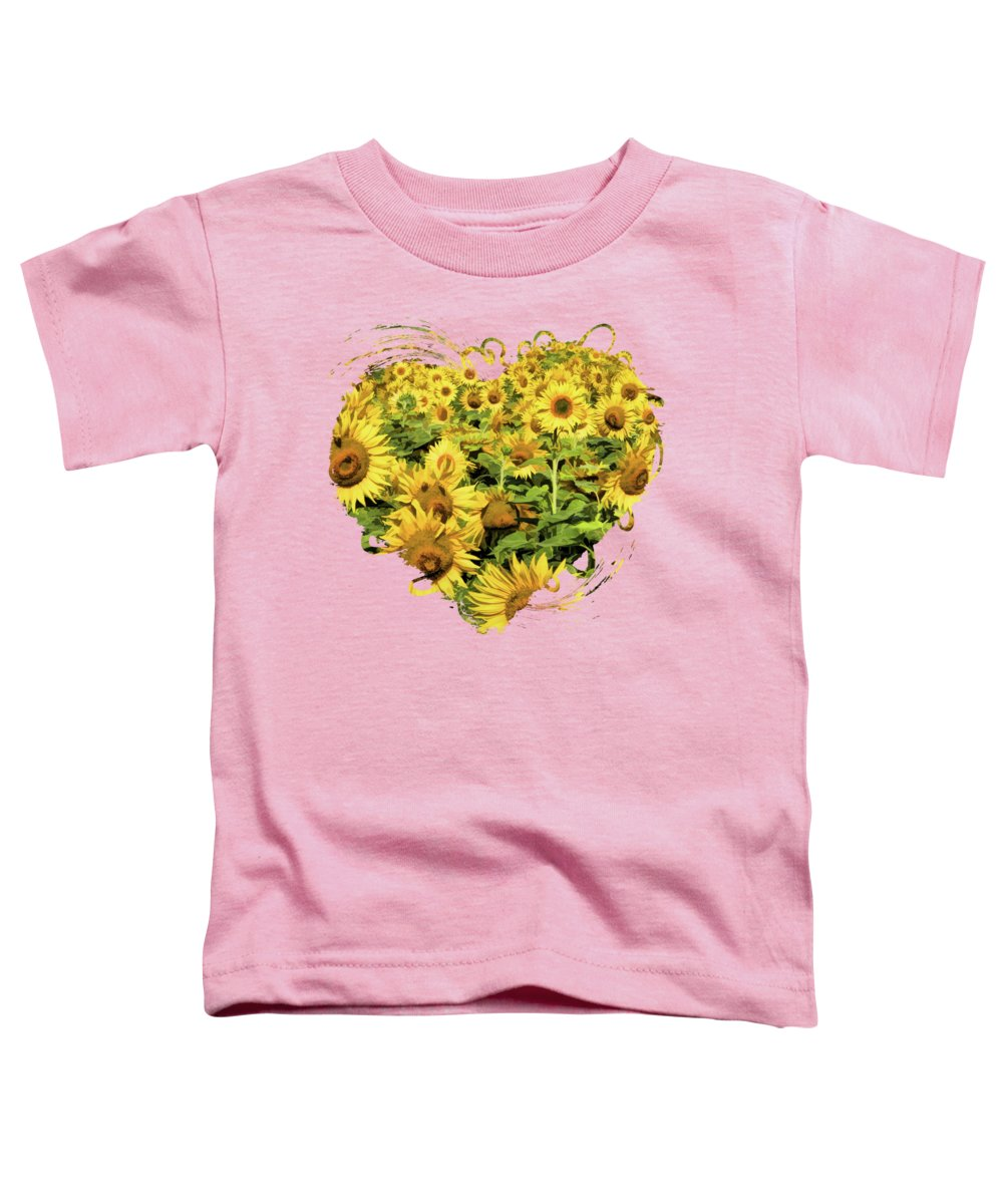 Door County Toddler T-Shirt featuring the painting Field Of Sunflowers by Christopher Arndt