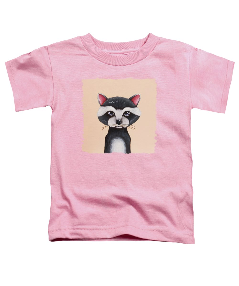 Raccoon Toddler T-Shirt featuring the painting Little Raccoon by Lucia Stewart