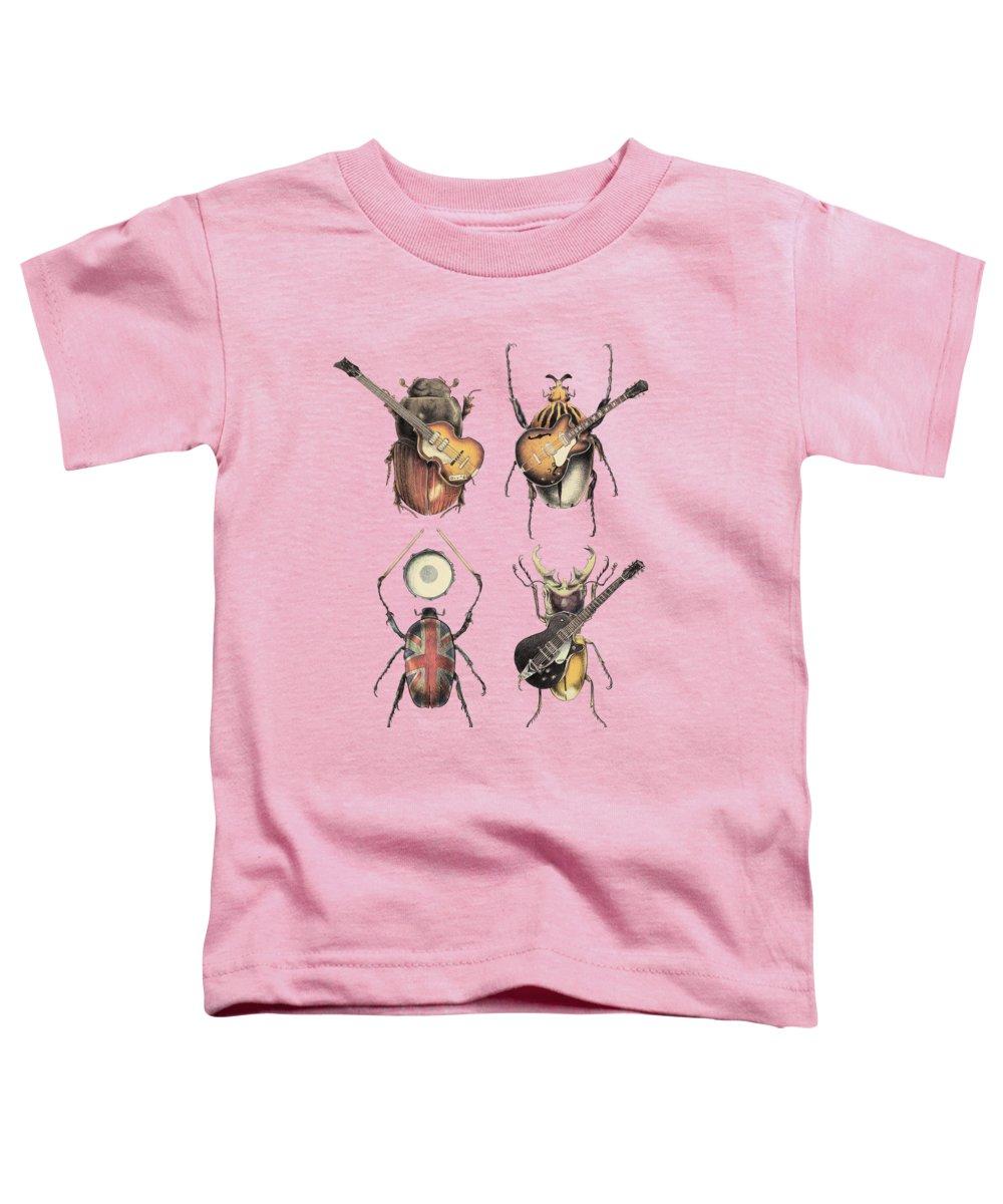 Beatles Toddler T-Shirt featuring the digital art Meet the Beetles by Eric Fan