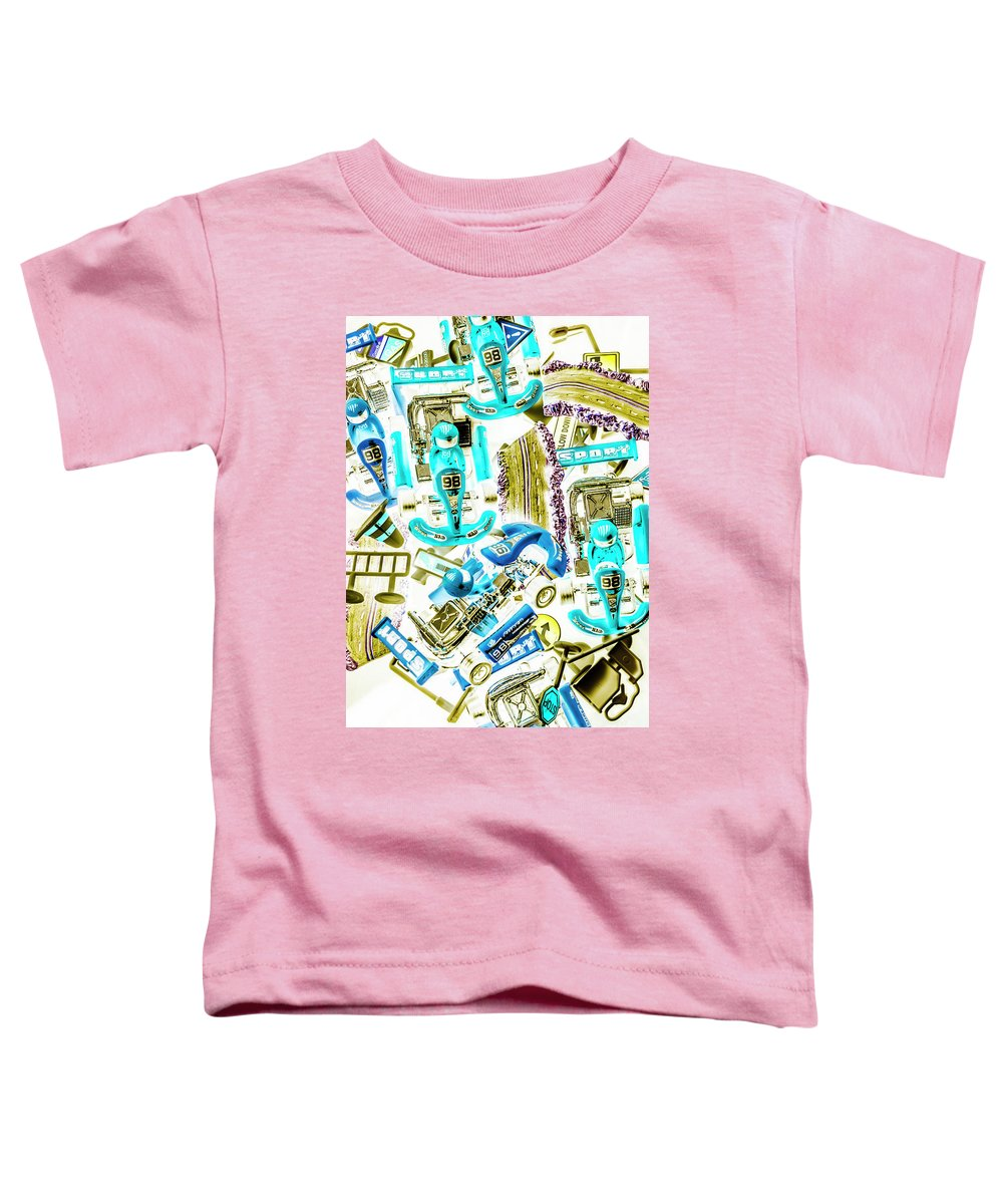 Go-kart Toddler T-Shirt featuring the photograph Motorised Bedlam by Jorgo Photography - Wall Art Gallery