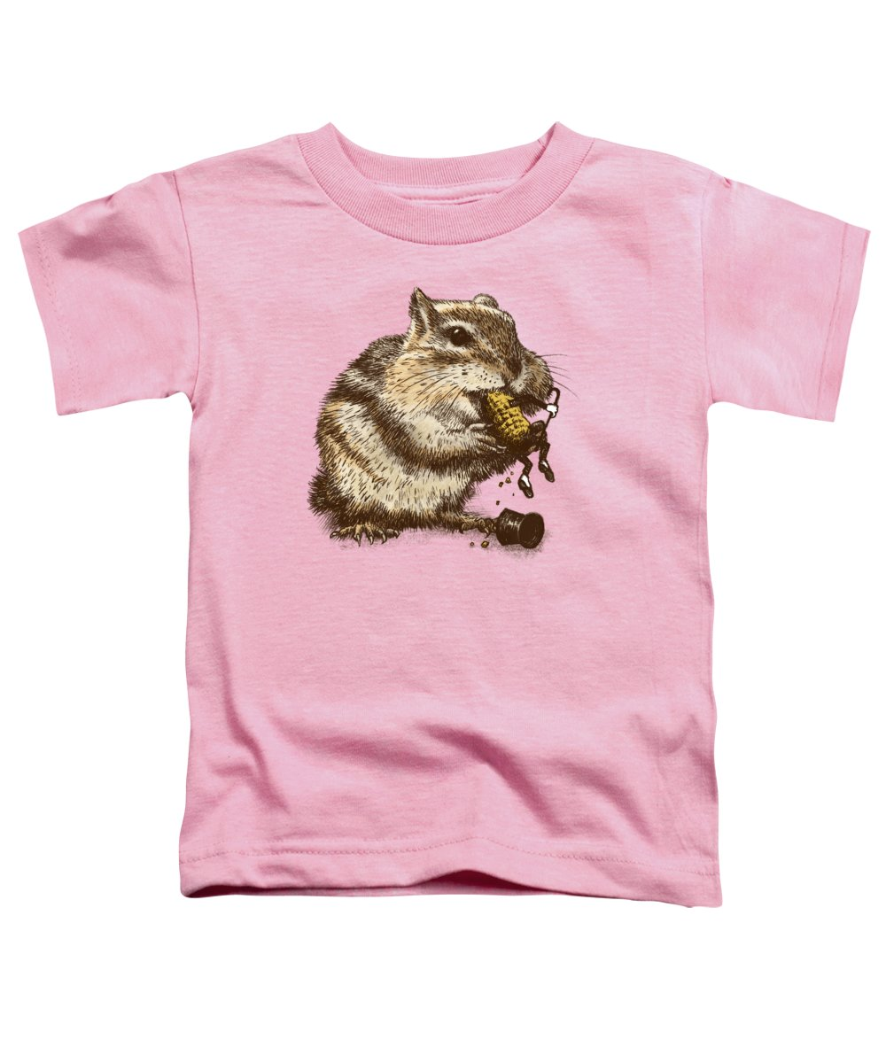 Chipmunk Toddler T-Shirt featuring the drawing Occupational Hazard by Eric Fan