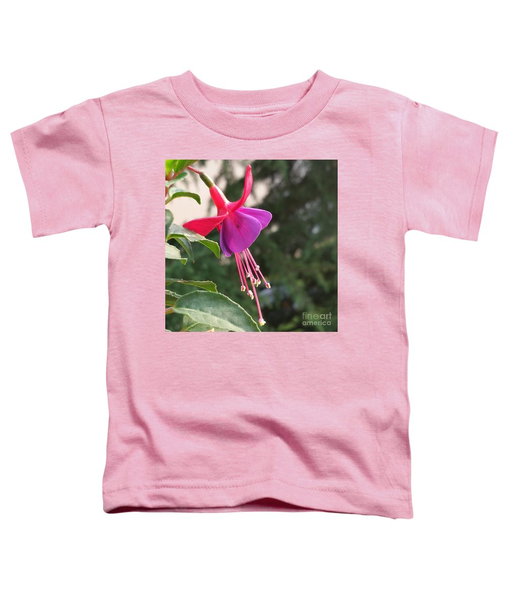Toddler T-Shirt featuring the photograph Purple Bell by Paola Baroni