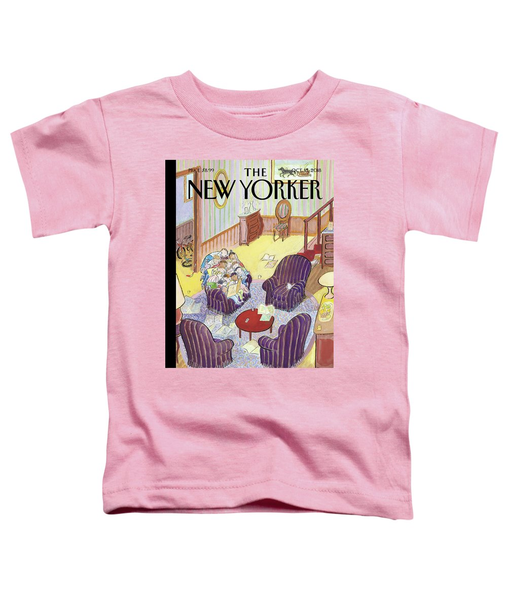 Reading Group Toddler T-Shirt featuring the drawing Reading Group by Jean-Jacques Sempe
