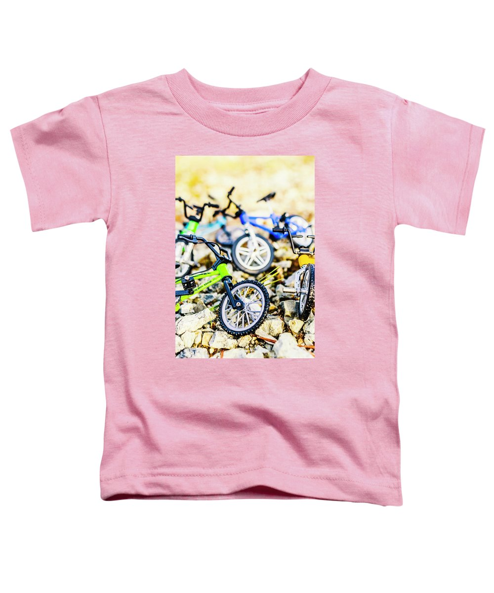 Biking Toddler T-Shirt featuring the photograph Scaled Mountain Adventure by Jorgo Photography - Wall Art Gallery