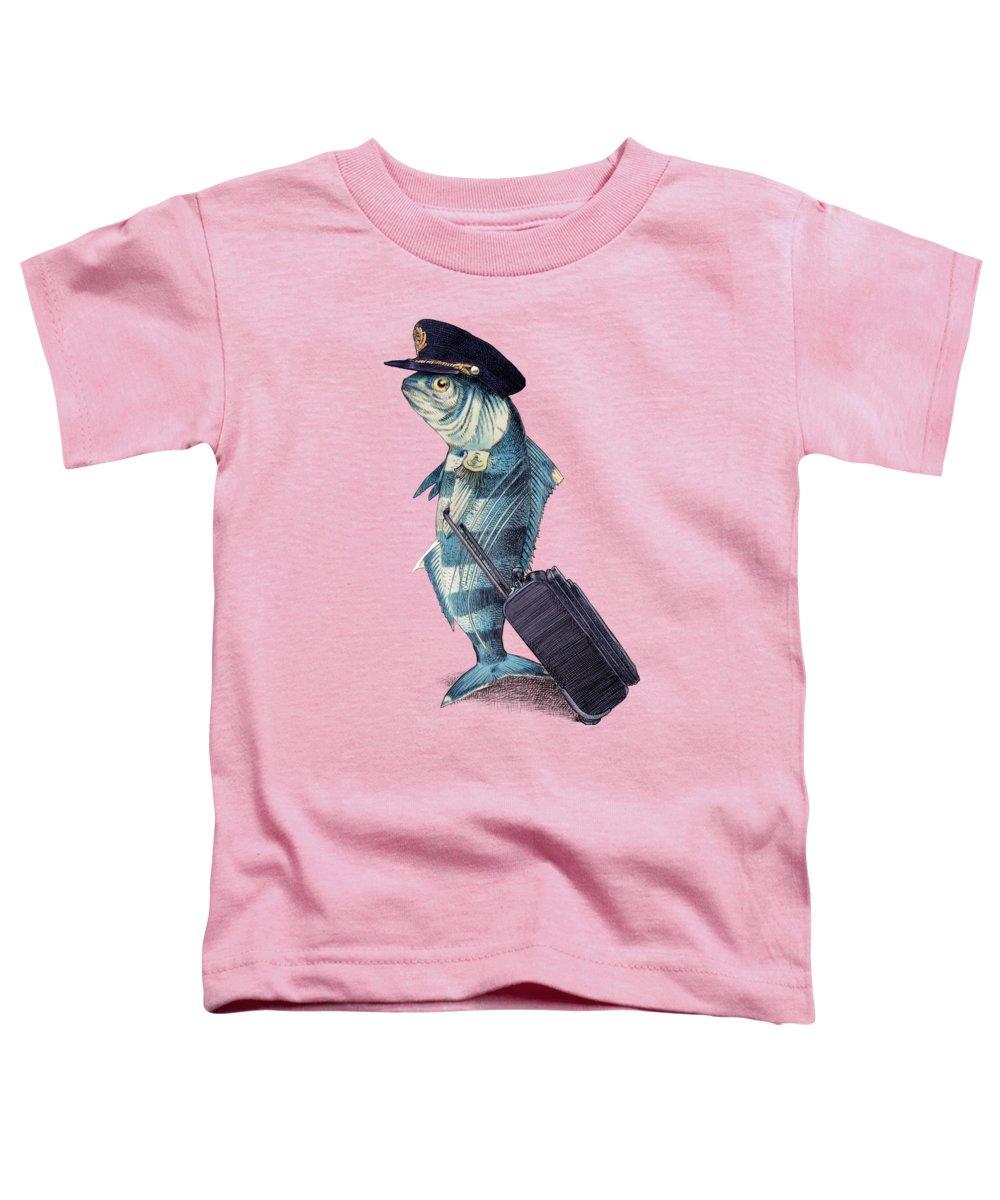 Pilot Toddler T-Shirt featuring the digital art The Pilot by Eric Fan