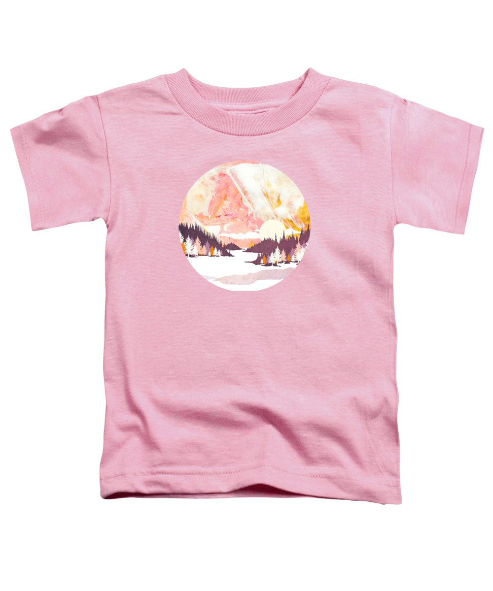 Winter Toddler T-Shirt featuring the digital art Winter Abstract by Spacefrog Designs