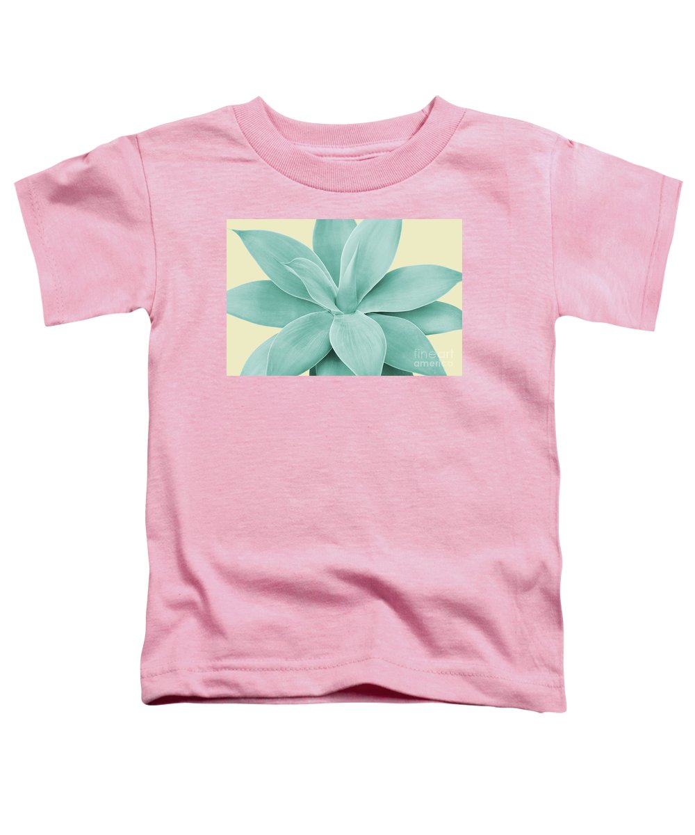 Color Toddler T-Shirt featuring the mixed media Yellow Agave Romance #1 #tropical #decor #art by Anitas and Bellas Art