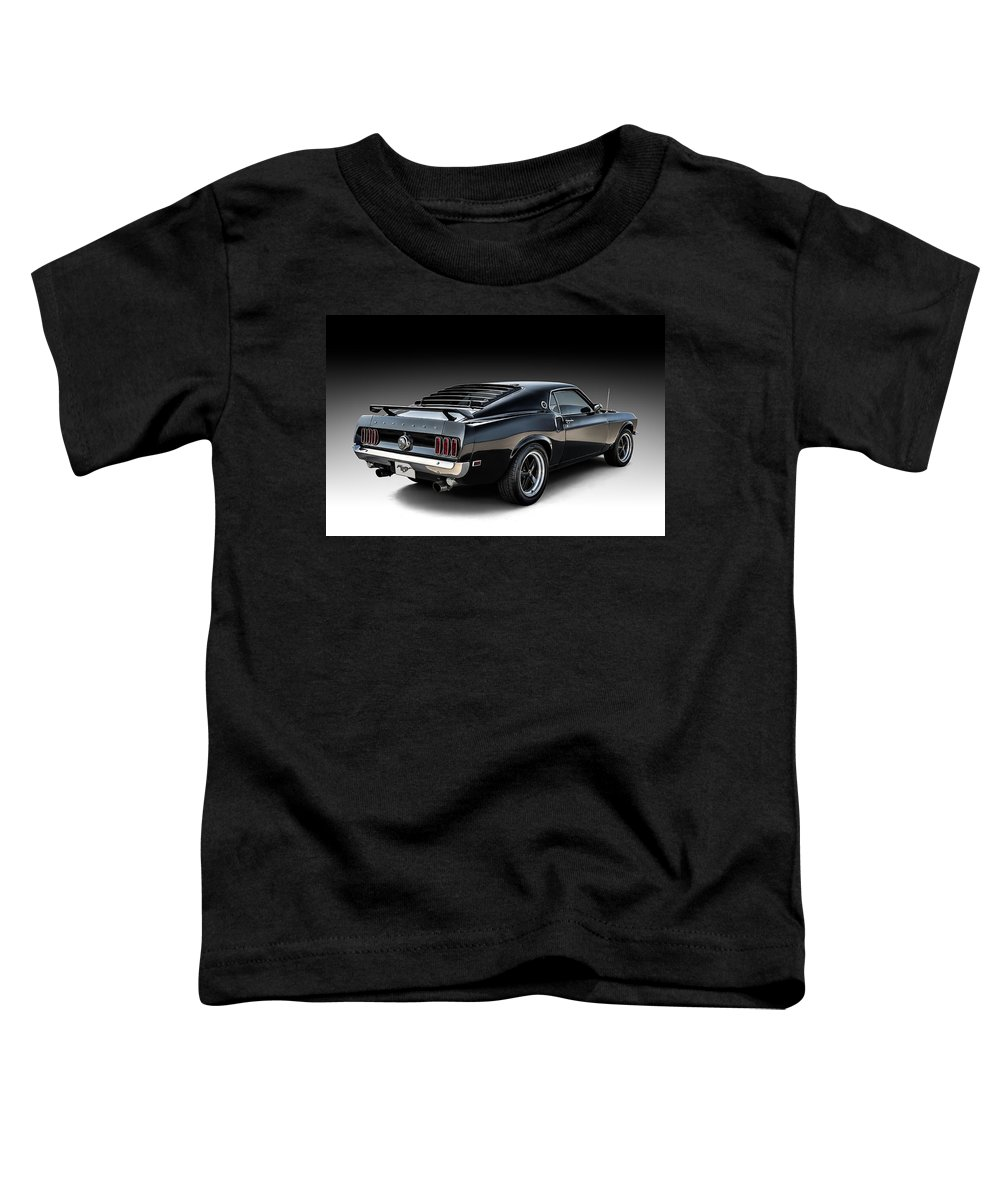 Mustang Toddler T-Shirt featuring the digital art Black Stallion by Douglas Pittman