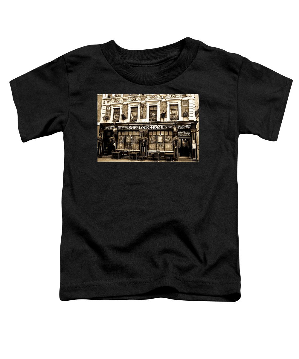 Sherlock Holmes Toddler T-Shirt featuring the photograph The Sherlock Holmes Pub by David Pyatt