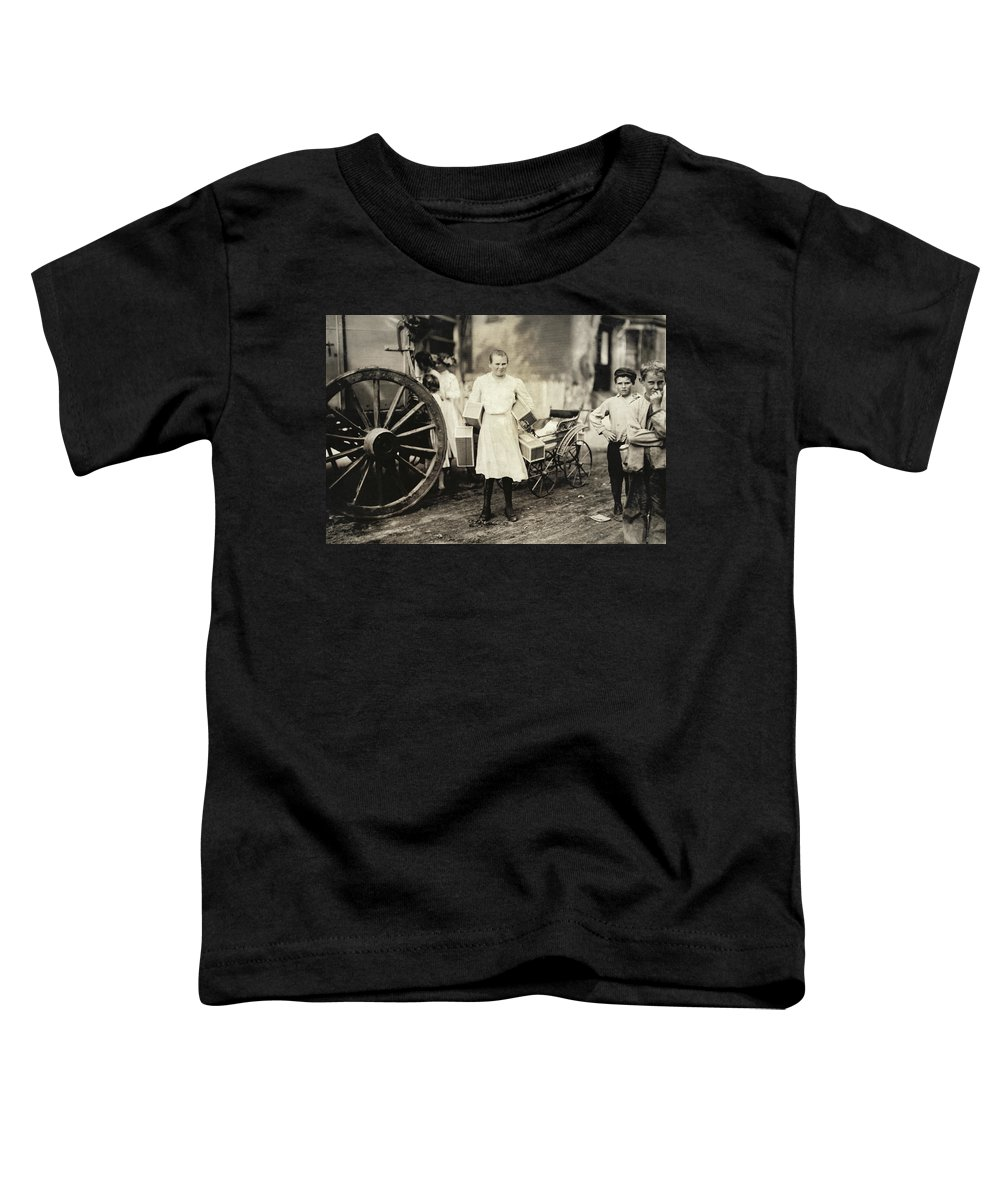 1912 Toddler T-Shirt featuring the photograph Hine Home Industry, 1912 by Granger
