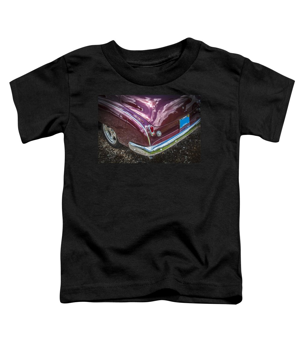 1950 Toddler T-Shirt featuring the photograph 1950 Chevrolet Tailights And Bumper by Rich Franco