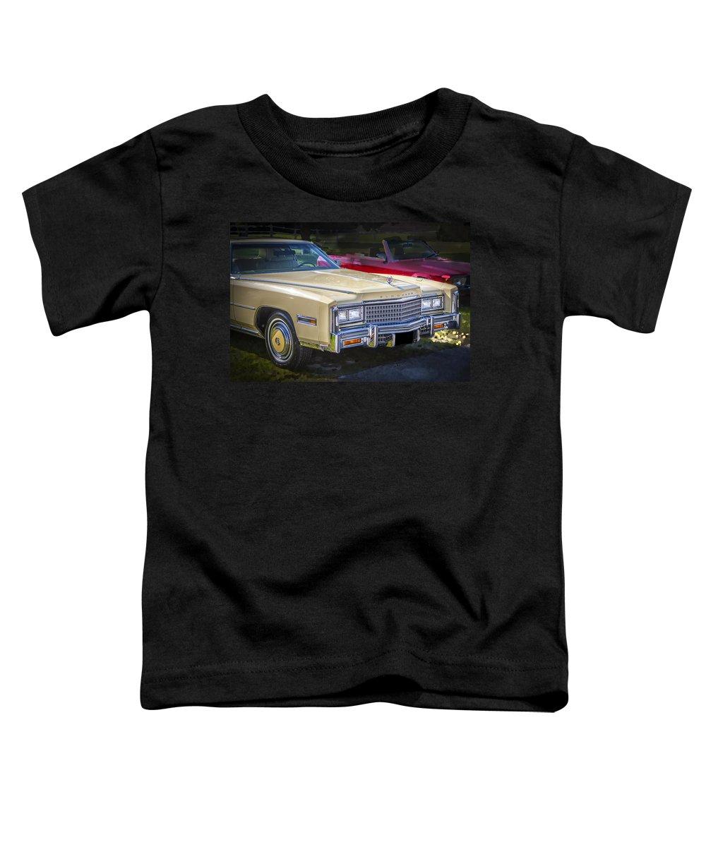 1978 Cadillac Toddler T-Shirt featuring the photograph 1978 Cadillac Eldorado by Rich Franco