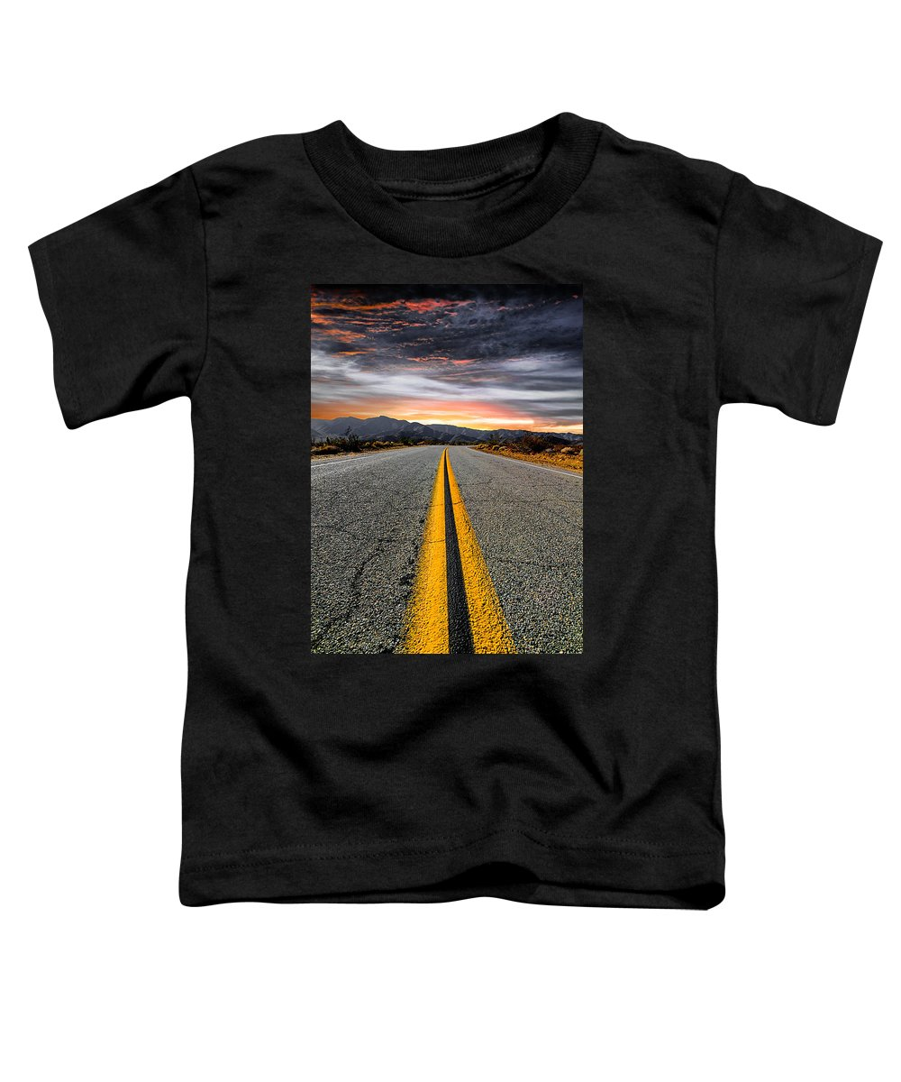 Desert Landscape Toddler T-Shirt featuring the photograph On Our Way by Ryan Weddle