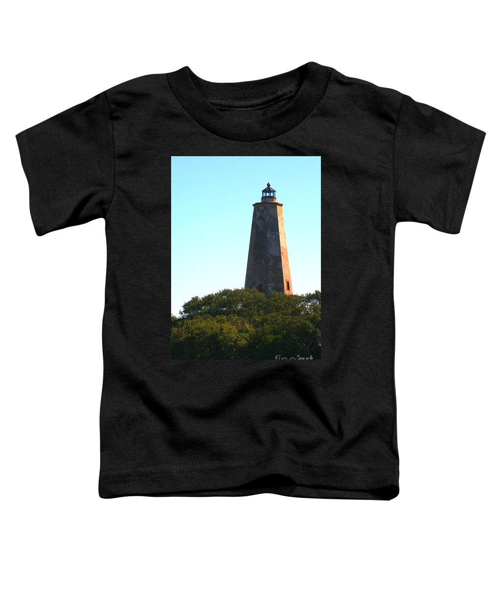 Lighthouse Toddler T-Shirt featuring the photograph The Lighthouse by Nadine Rippelmeyer