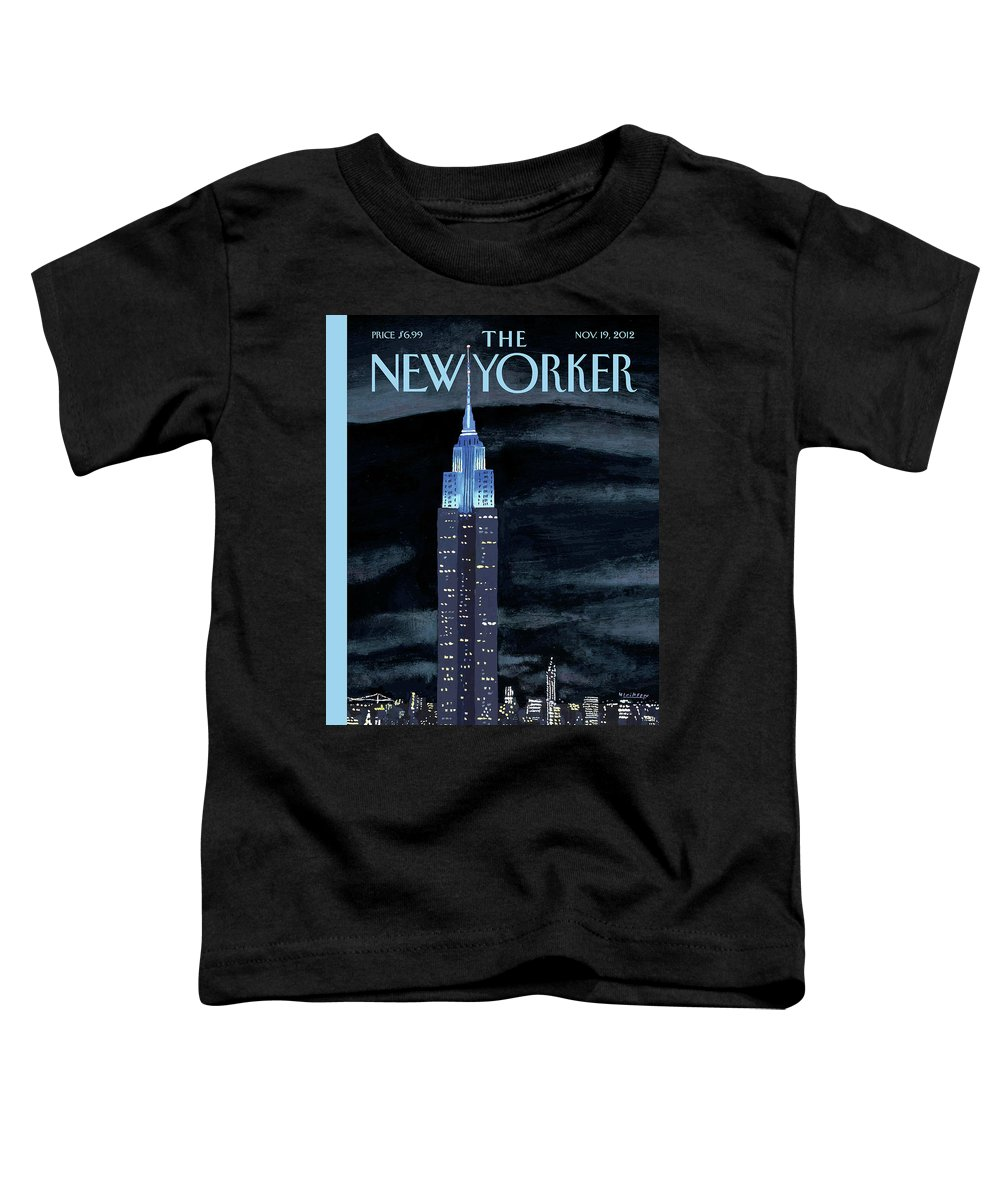 New York City Toddler T-Shirt featuring the painting New Yorker November 19th, 2012 by Mark Ulriksen