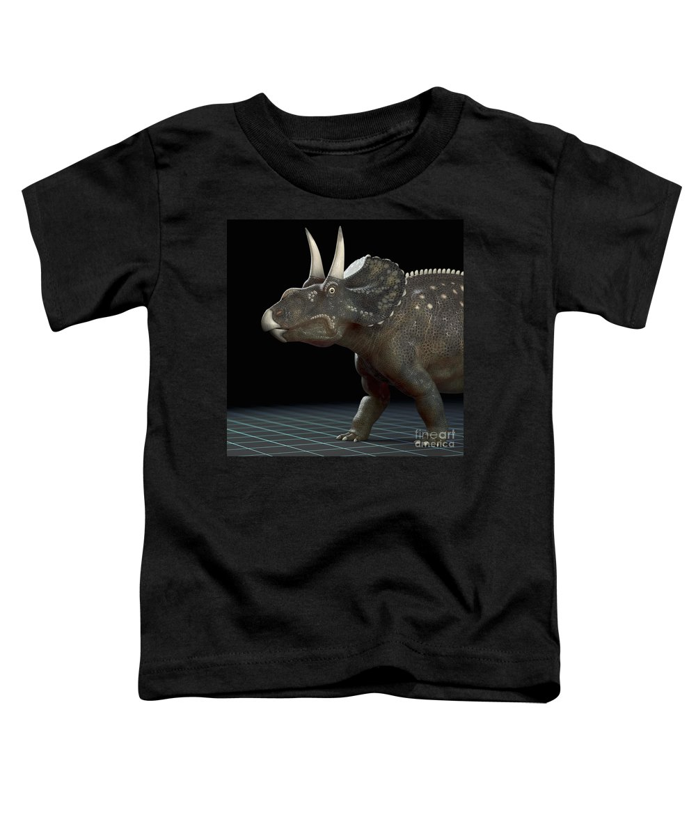 Extinction Toddler T-Shirt featuring the photograph Dinosaur Diceratops by Science Picture Co