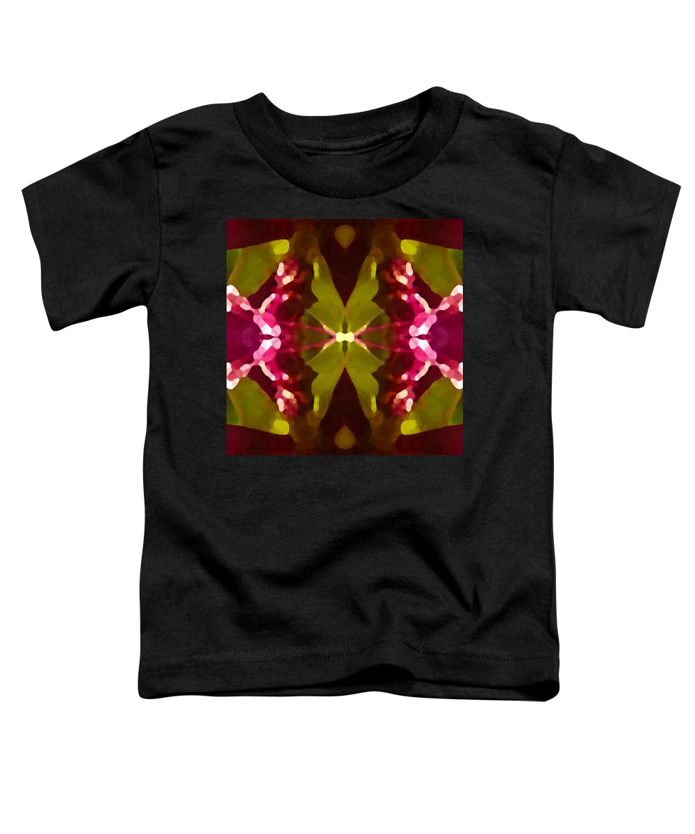 Contemporary Toddler T-Shirt featuring the painting Abstract Crystal Butterfly by Amy Vangsgard